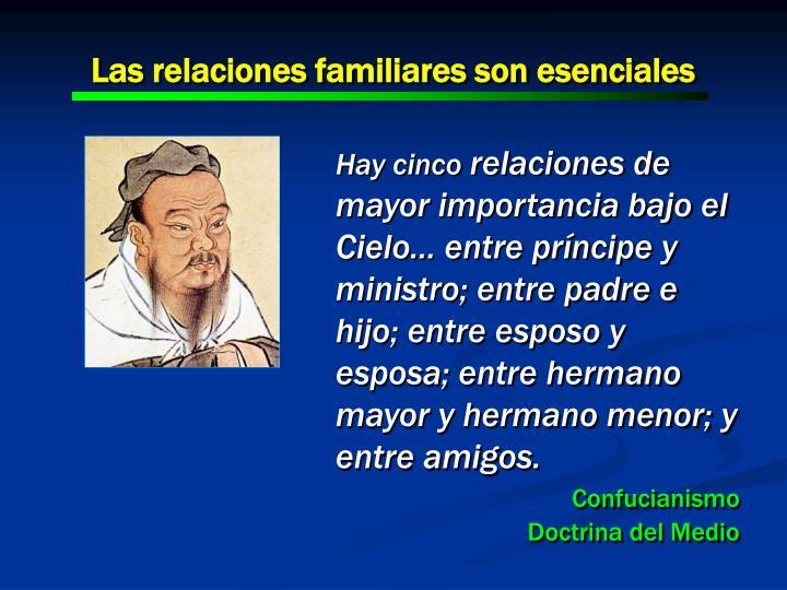Las relaciones familiares son esenciales
