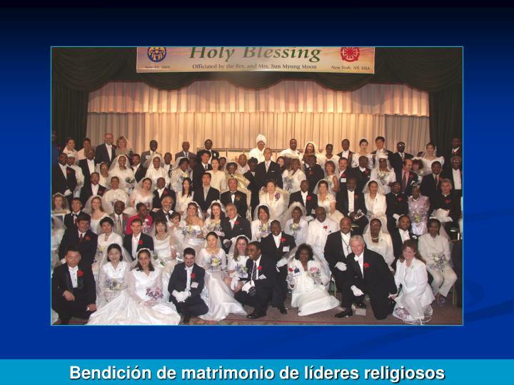Bendición de matrimonio de líderes religiosos