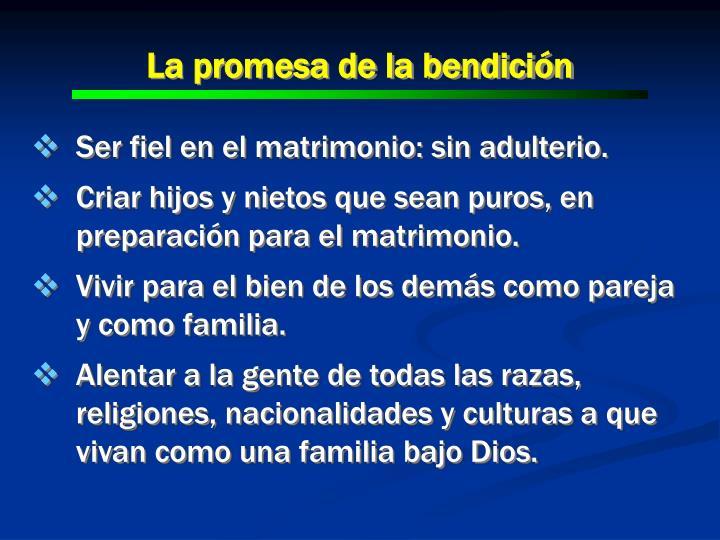 La promesa de la bendición