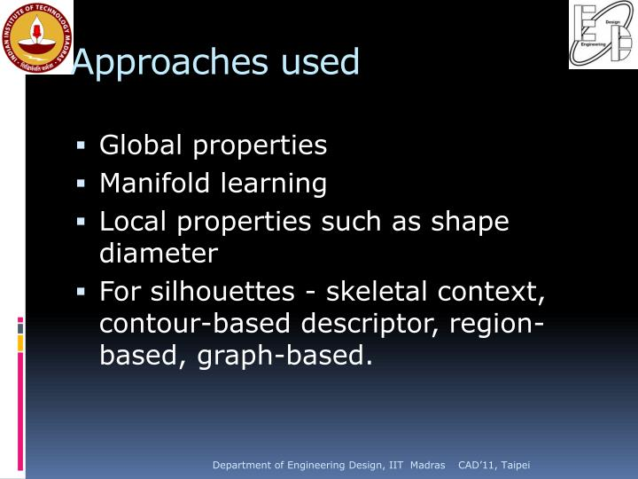 Approaches used