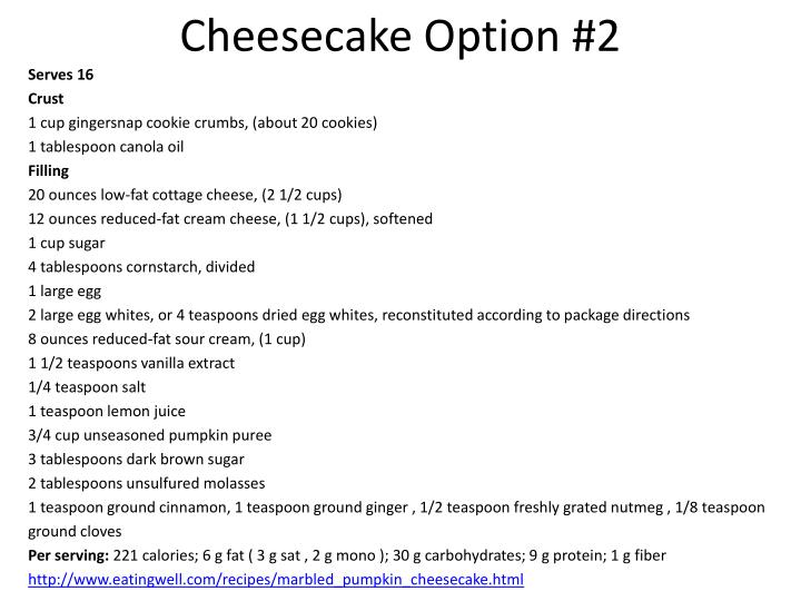 Cheesecake Option #2