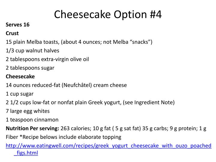 Cheesecake Option #4