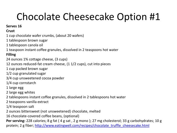 Chocolate Cheesecake Option #1