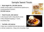 sample sweet treats