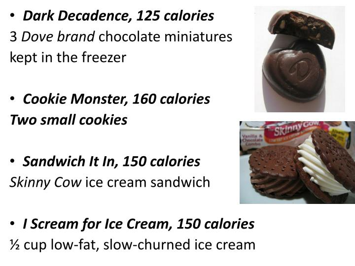 Dark Decadence, 125 calories