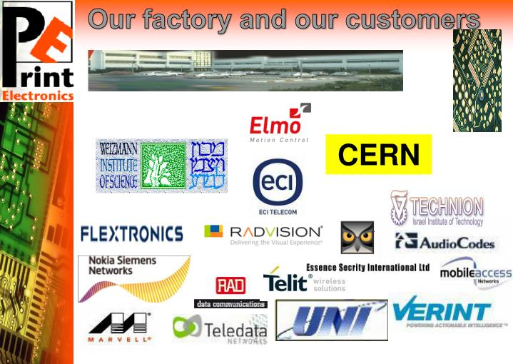 Our factory and our customers