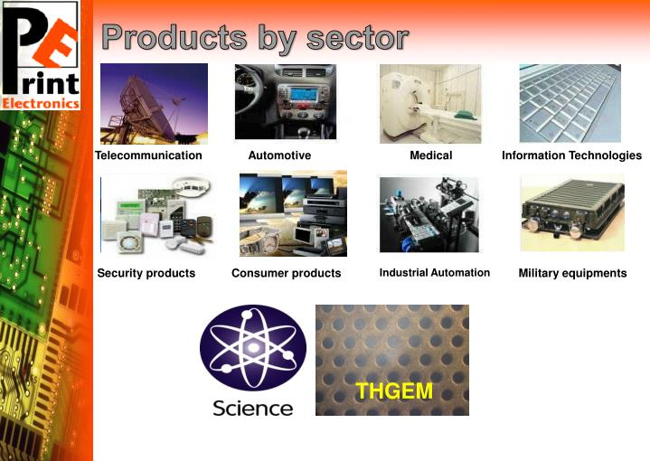Products by sector