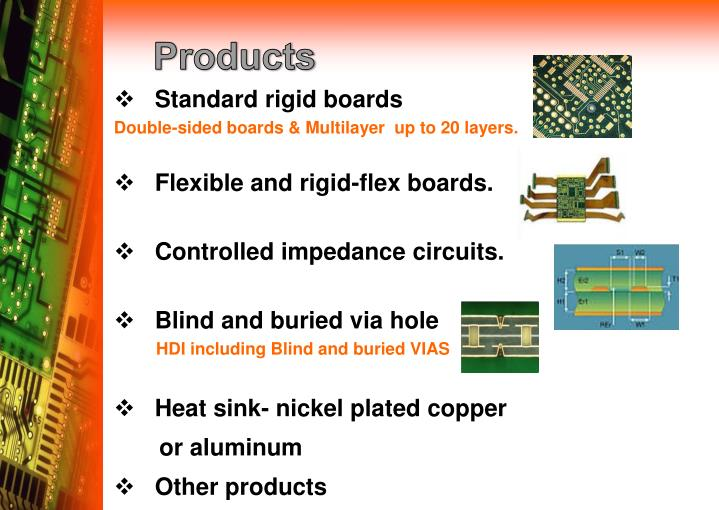 Standard rigid boards