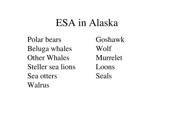 ESA in Alaska