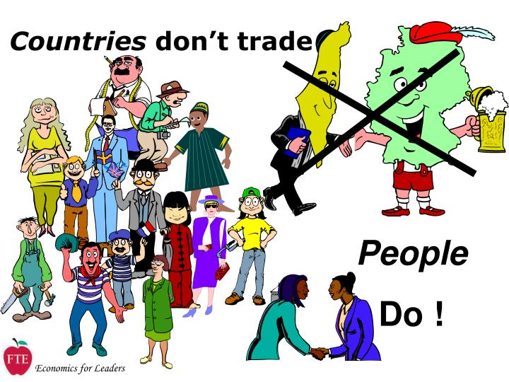 Countries don t trade