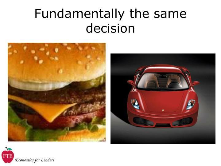 Fundamentally the same decision