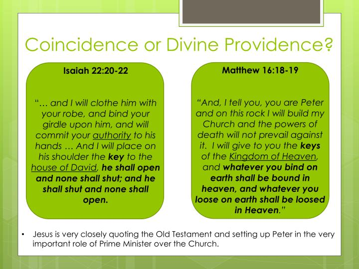 Coincidence or Divine Providence?