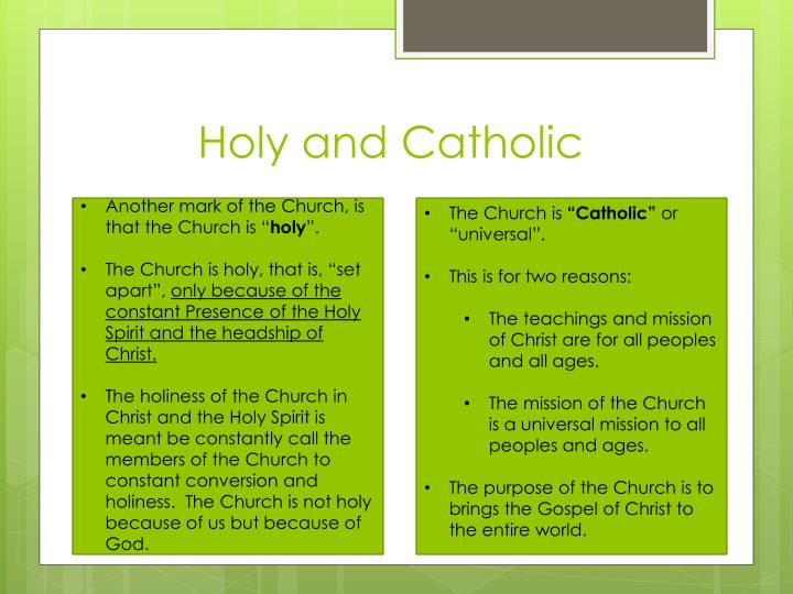 Holy and Catholic