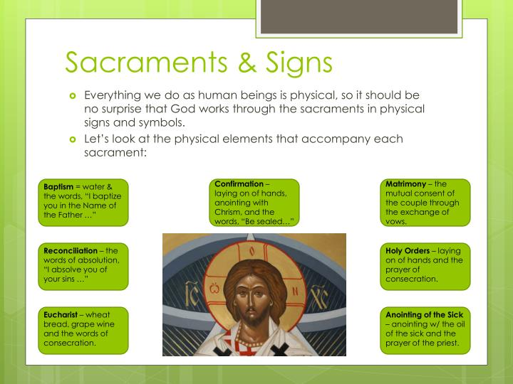 Sacraments & Signs