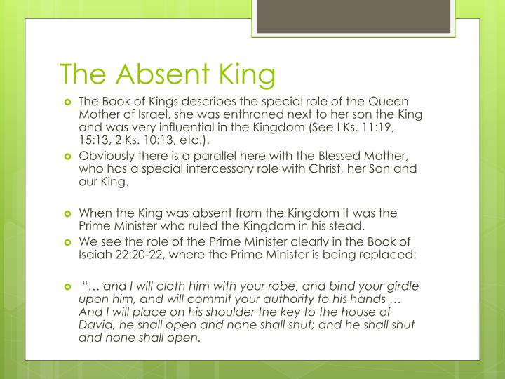 The Absent King