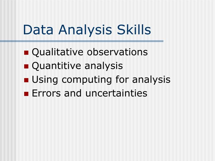 Data Analysis Skills