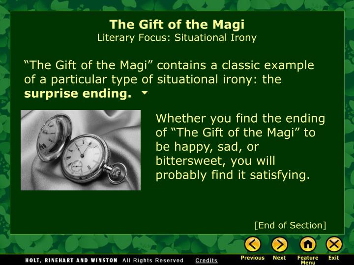 essay question for the gift of the magi