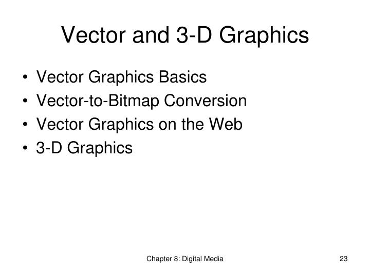 Vector and 3-D Graphics