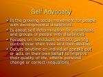 self advocacy1