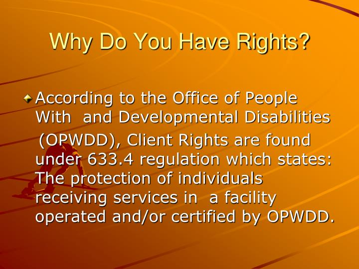 Why Do You Have Rights?