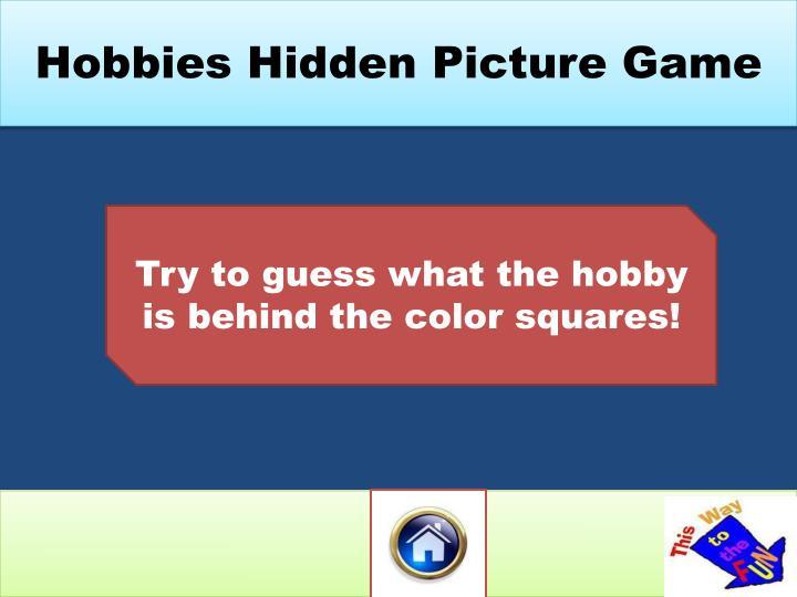Hobbies Hidden Picture Game