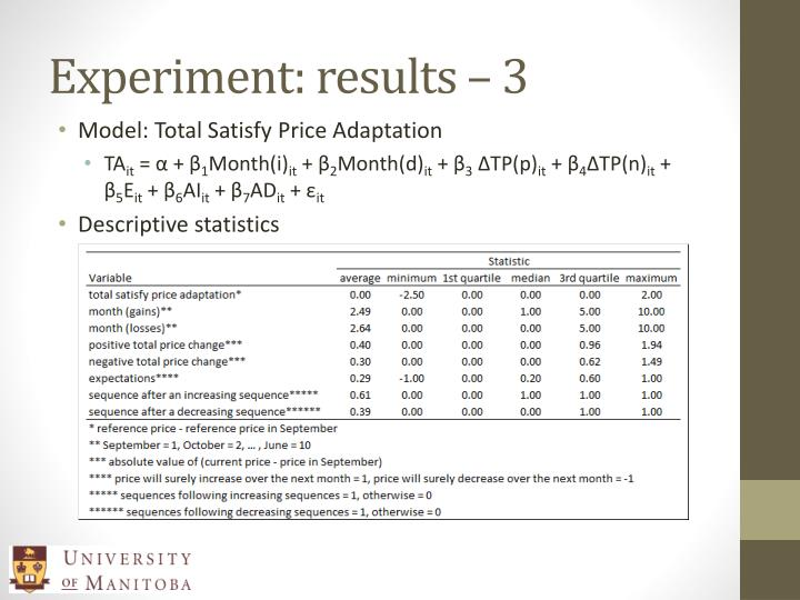 Experiment: results – 3