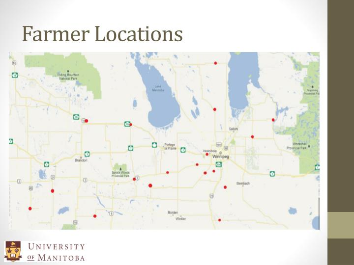 Farmer Locations