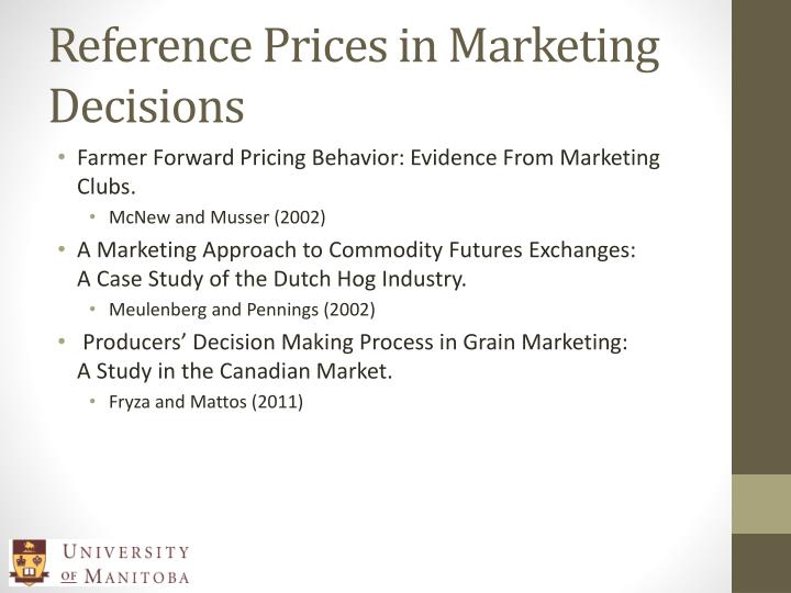 Reference Prices in Marketing