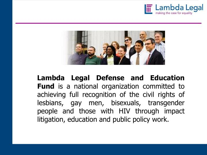 Lambda Legal Defense and Education Fund