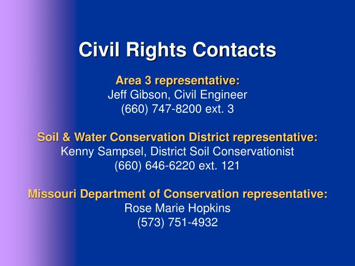 Civil Rights Contacts