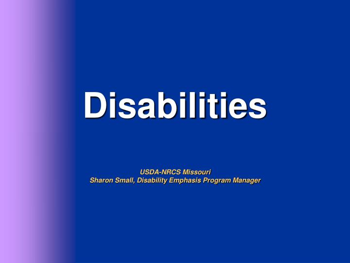 Disabilities usda nrcs missouri sharon small disability emphasis program manager