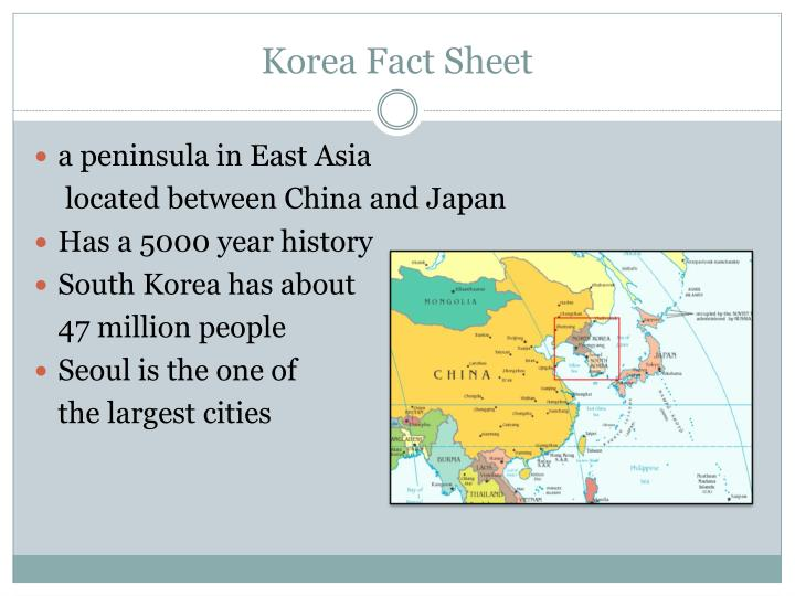 Korea Fact Sheet