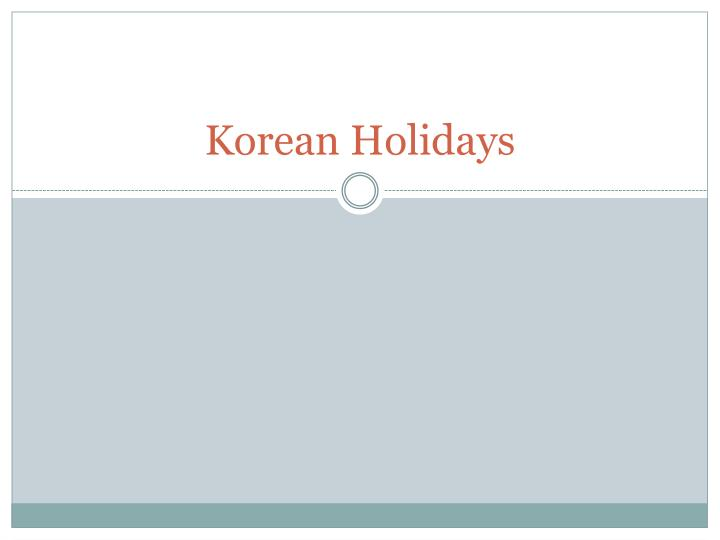 Korean holidays
