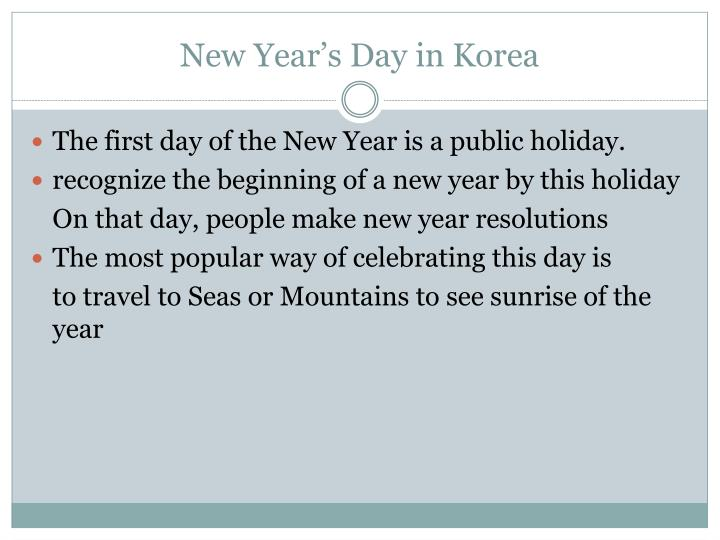 New Year's Day in Korea