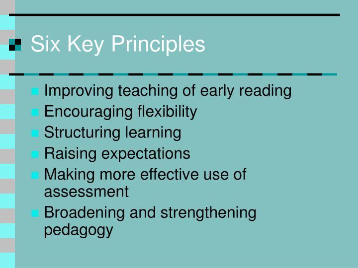 Six Key Principles