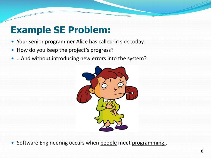 Example SE Problem: