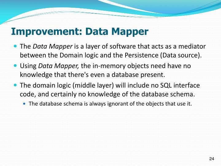 Improvement: Data Mapper
