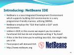 introducing netbeans ide