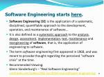 software engineering starts here