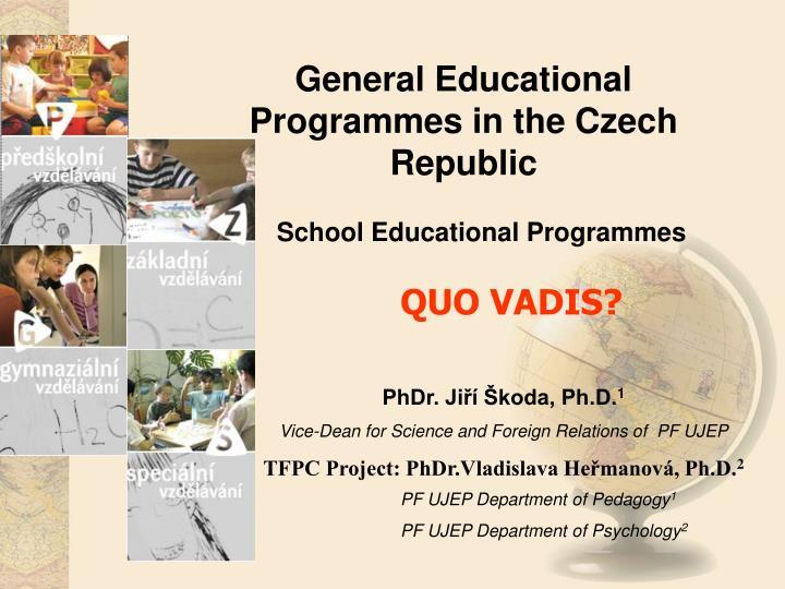 General Educational Programmes in the Czech Republic