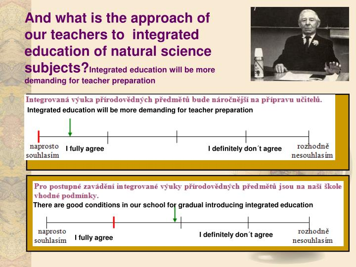 And what is the approach of our teachers to  integrated education of natural science subjects?
