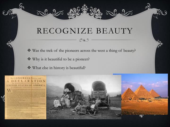 Recognize Beauty