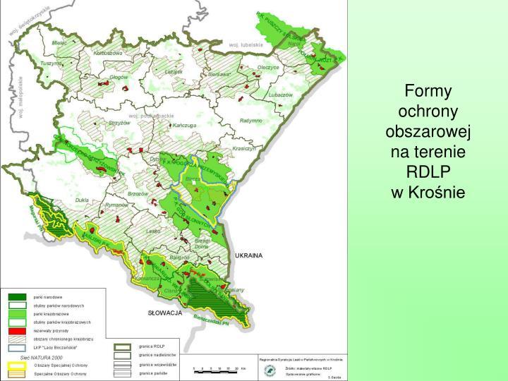 Formy ochrony obszarowej na terenie RDLP