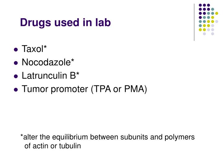 Drugs used in lab