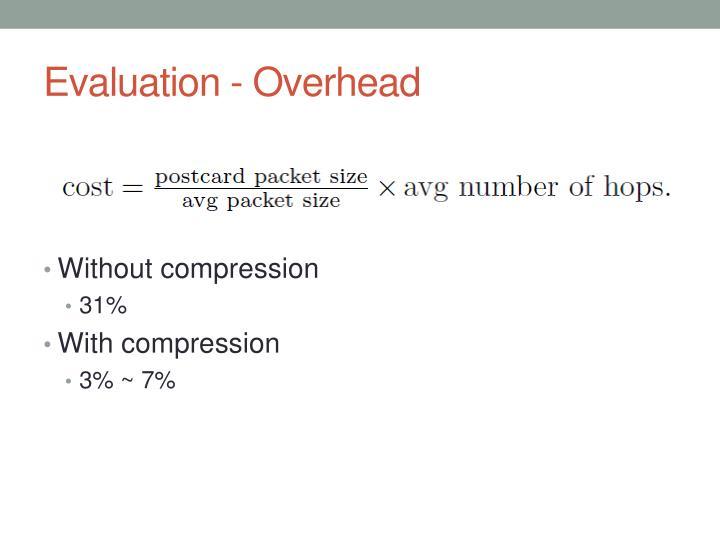 Evaluation - Overhead