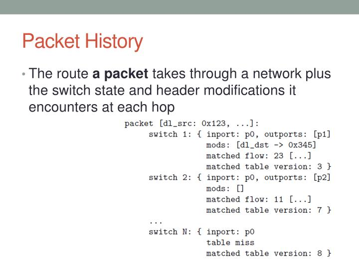 Packet History
