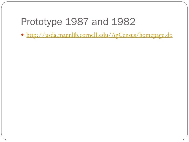 Prototype 1987 and 1982