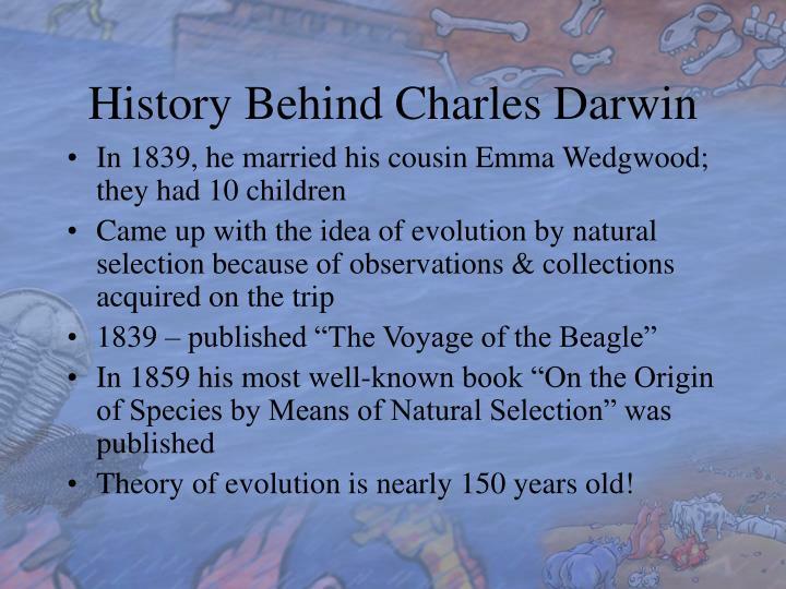 History Behind Charles Darwin
