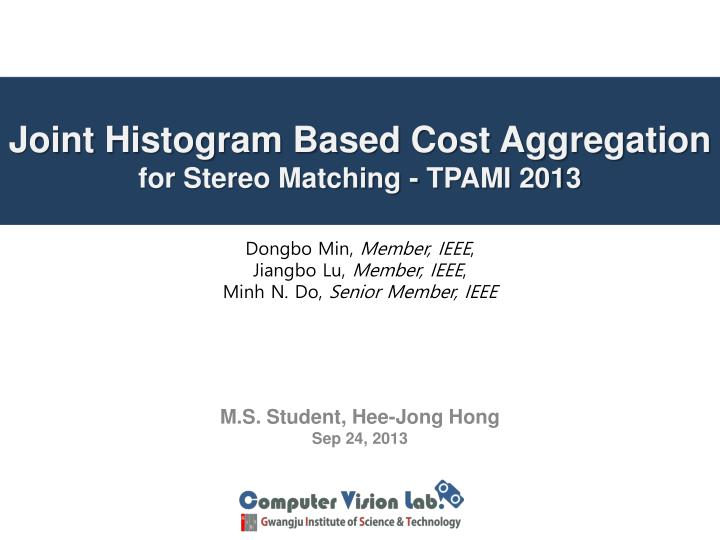 joint histogram based cost aggregation for stereo matching tpami 2013
