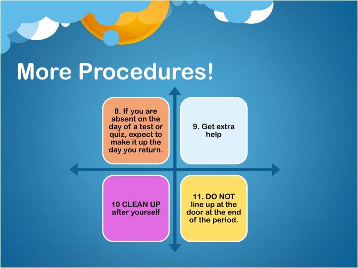 More Procedures!
